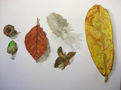 sketchbook painting - field combing