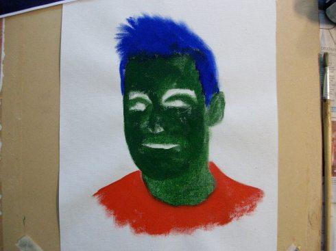 Portrait underpainted
