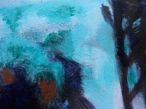 Acrylic landscape detail 1