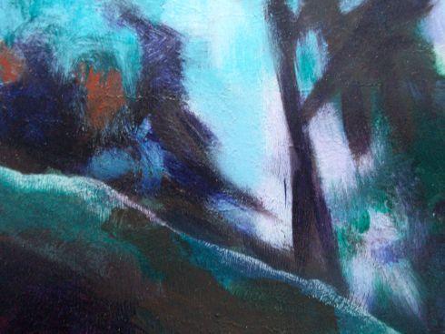 Acrylic landscape detail 2