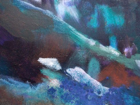 Acrylic landscape detail 3