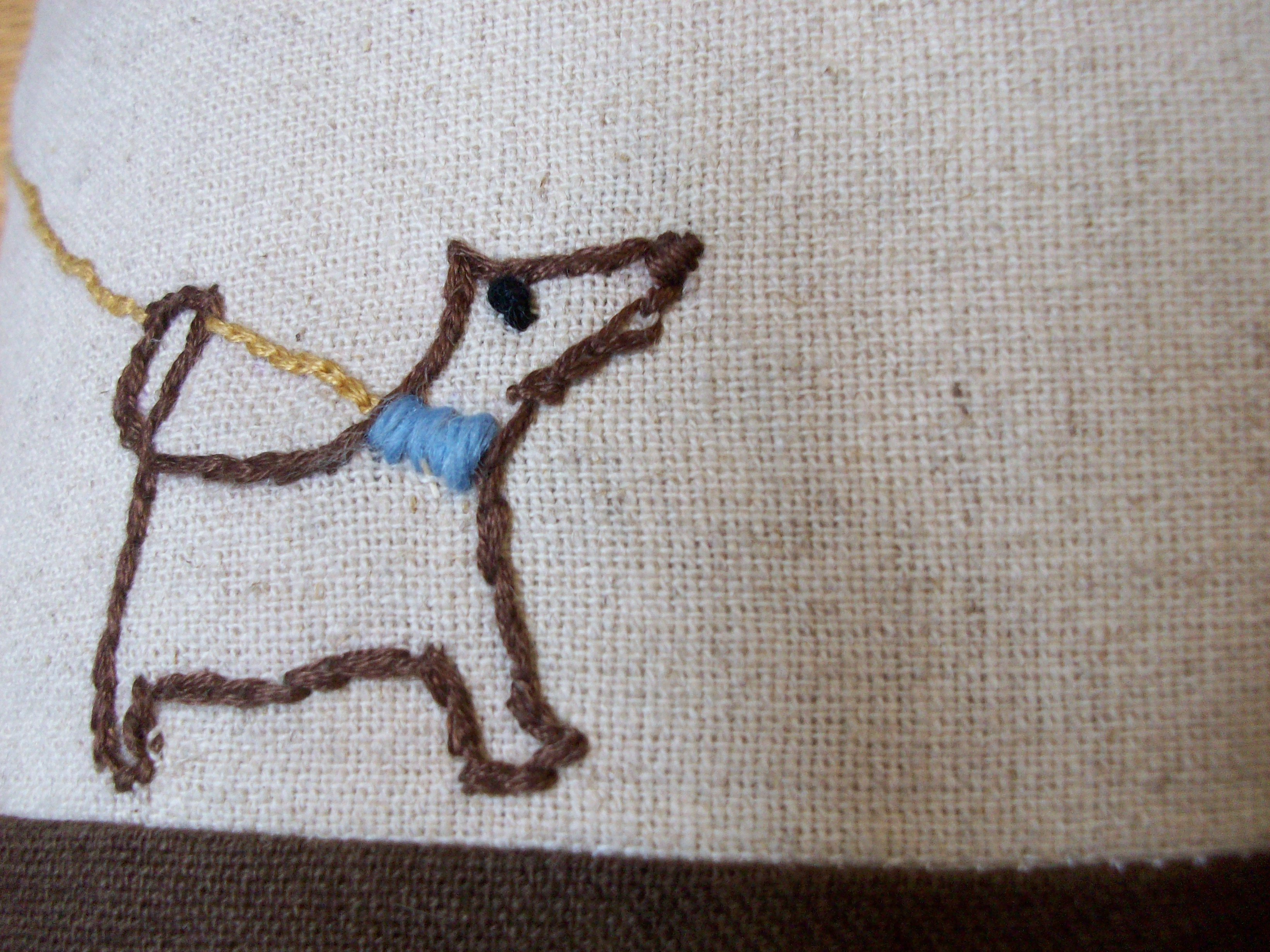 embroidered dog