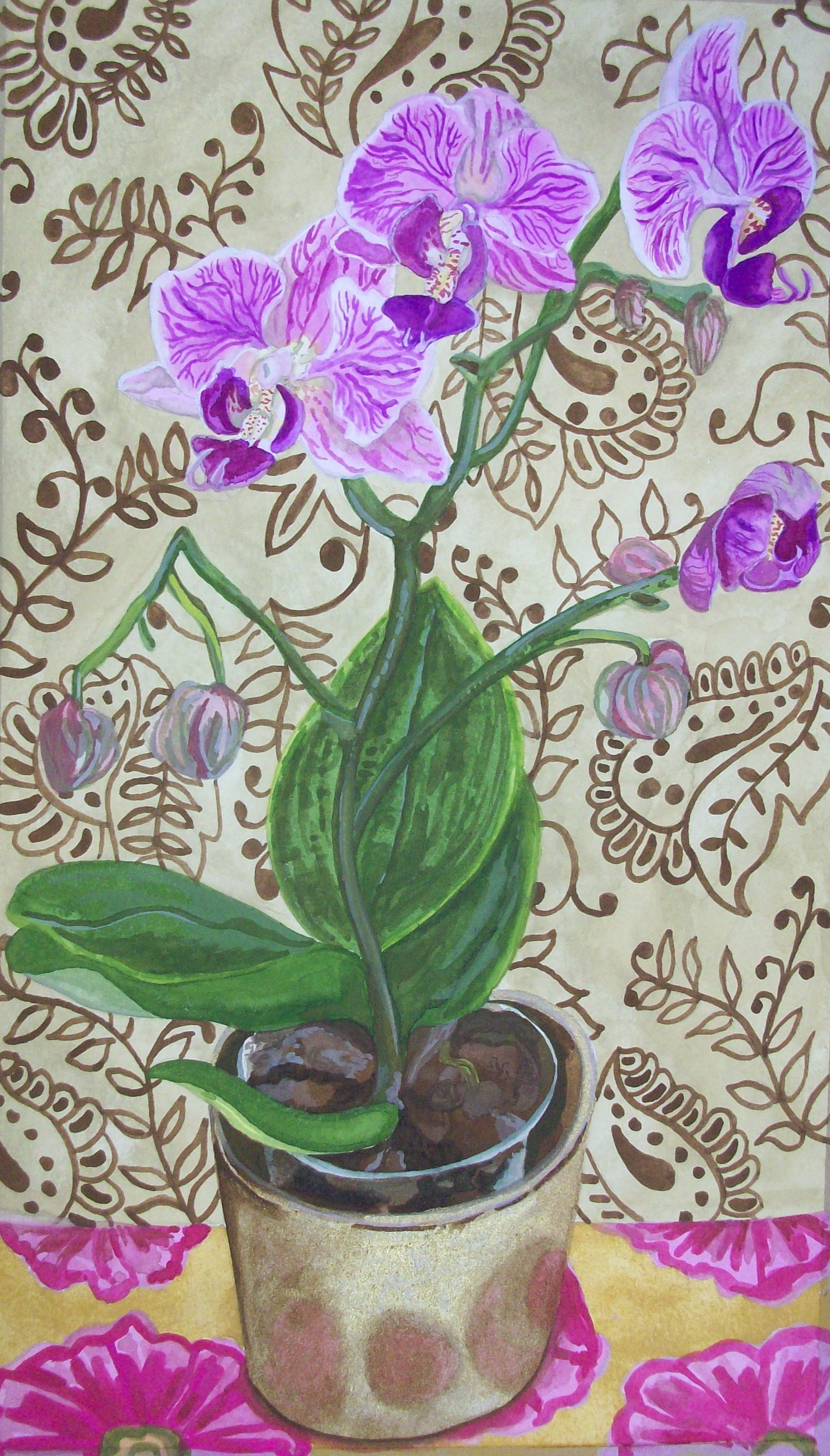 Purple Orchid © Claire Leggett