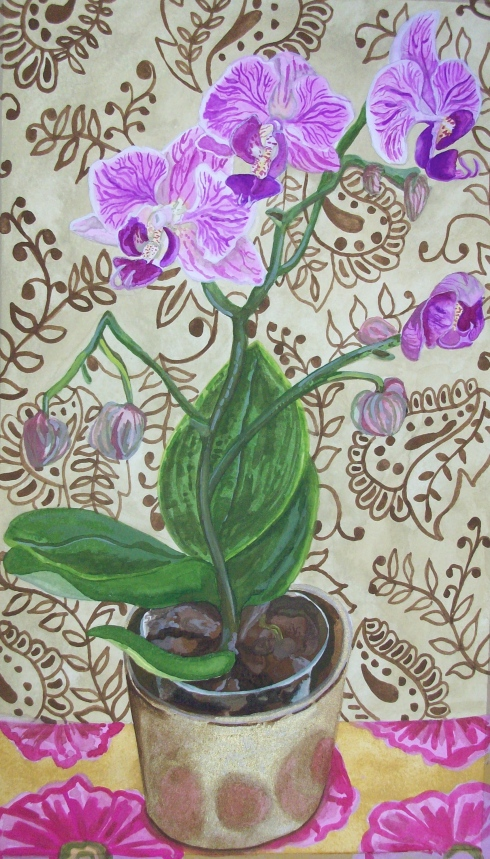 Purple Orchid © Claire Leggett