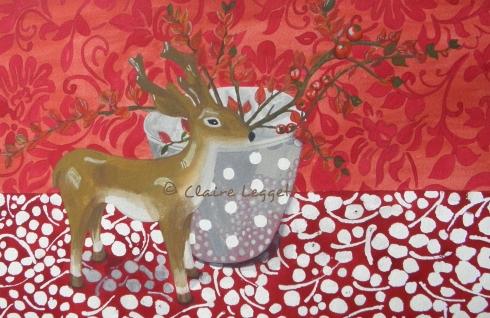 Christmas Reindeer    ©  Claire Leggett