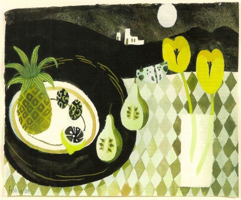 "Mary Fedden ""Black Tray"""