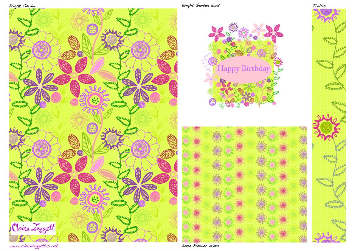 Bright Garden designs Paint Drops Keep Falling