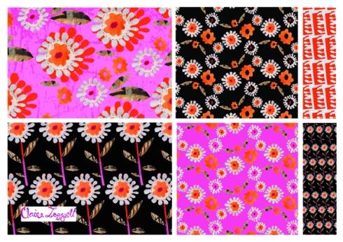 Claire_Leggett_Collaged Flower Design Template