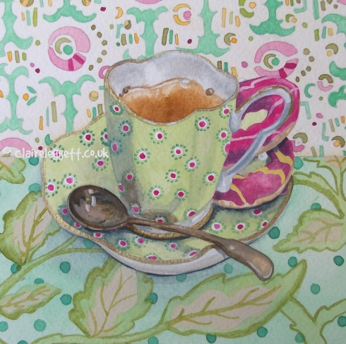Ollie's cup painting
