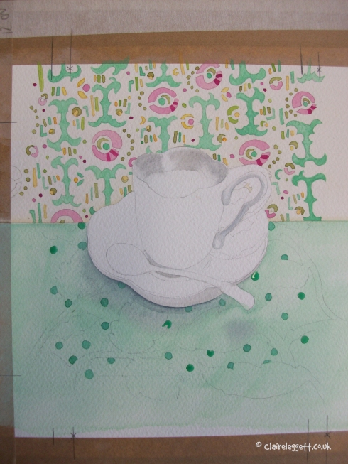 cup in progress