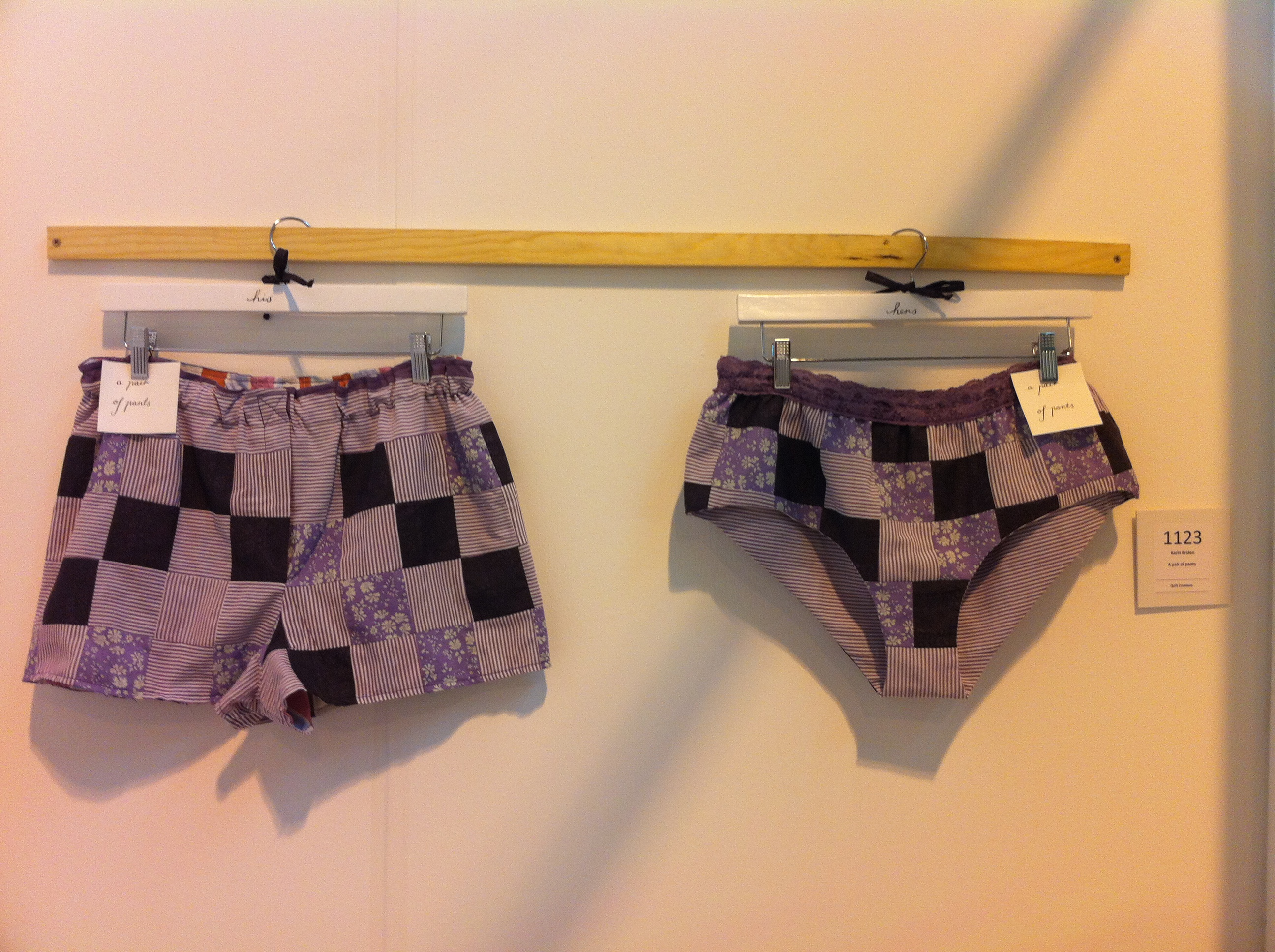 Karin Briden      A pair of pants