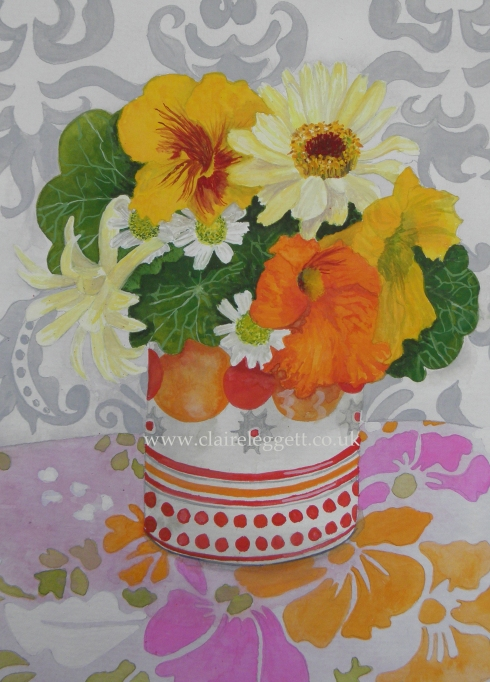 Orange Posy  © Claire Leggett