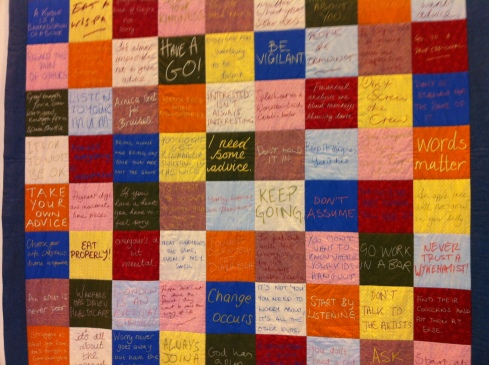 Liz Hainsworth & Luke Franklin I Need Some Advice Quilt