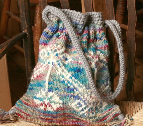 made4aid  Hand knit tote bag