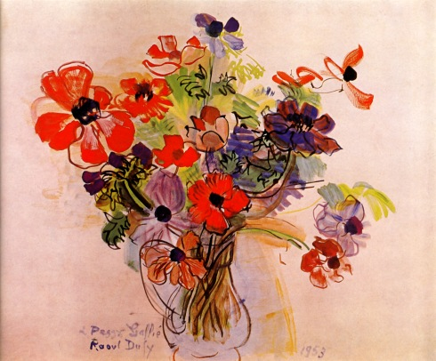 Anemones-1953 Raoul Dufy