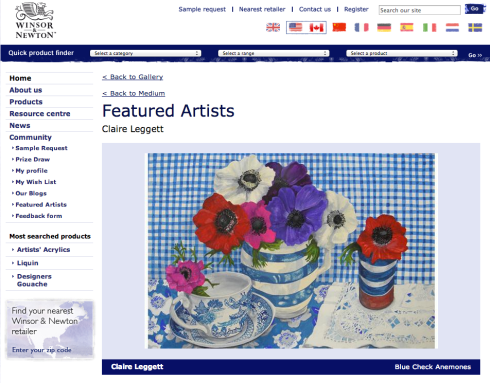 claire_leggett_featured_artist_windsor and newton_blue_checked_anmones