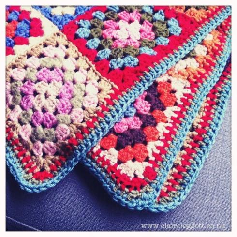 crochet blanket edged