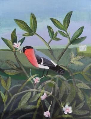 Angela-Harding-Bullfinch-Falling-Flowers