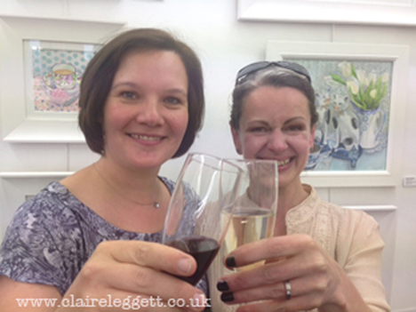 claire Leggett and Dominique Bleuel_Harborne Gallery