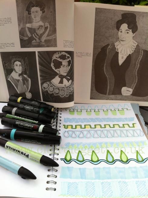 Claire Leggett Folk Art Doodles 1