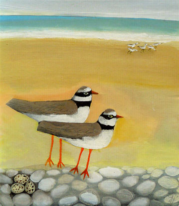 'Egg Watcher' by Angela Harding