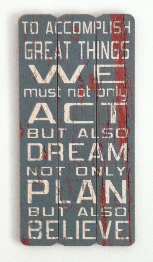 plan,dream,believe sign