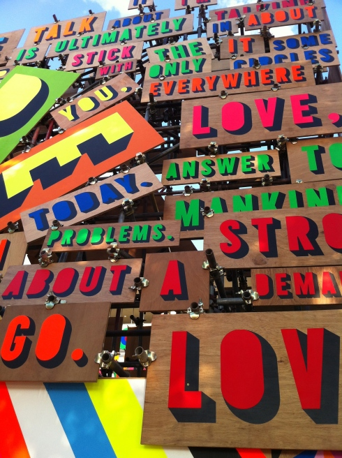 English Festival of Love Installation – design by Morag Myerscough & Luke Morgan
