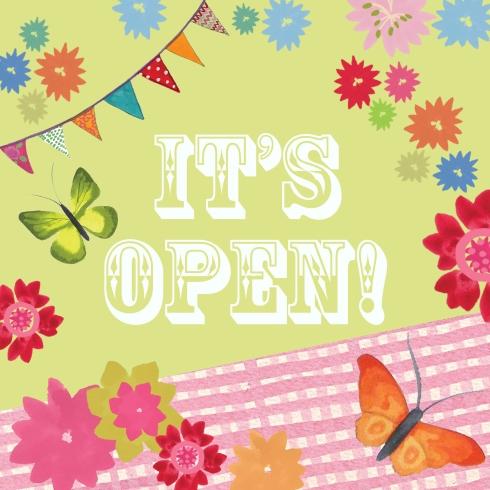 It's open!