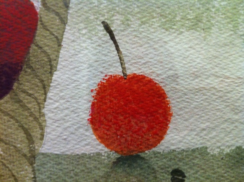 Mary Fedden Basket of Fruit 1998 - detail