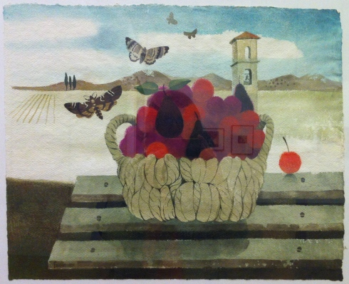 Mary Fedden Basket of Fruit 1998