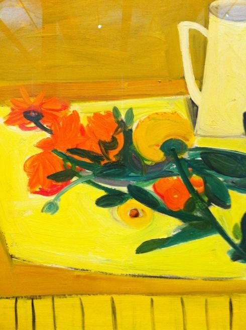 William George Scott    Still Life: Flowers and Jug - detail