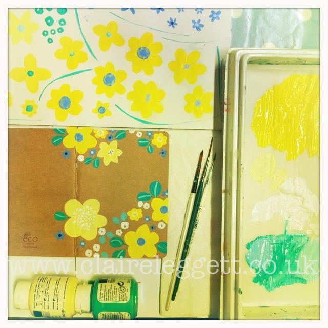 claire leggett yellow notebk in prog