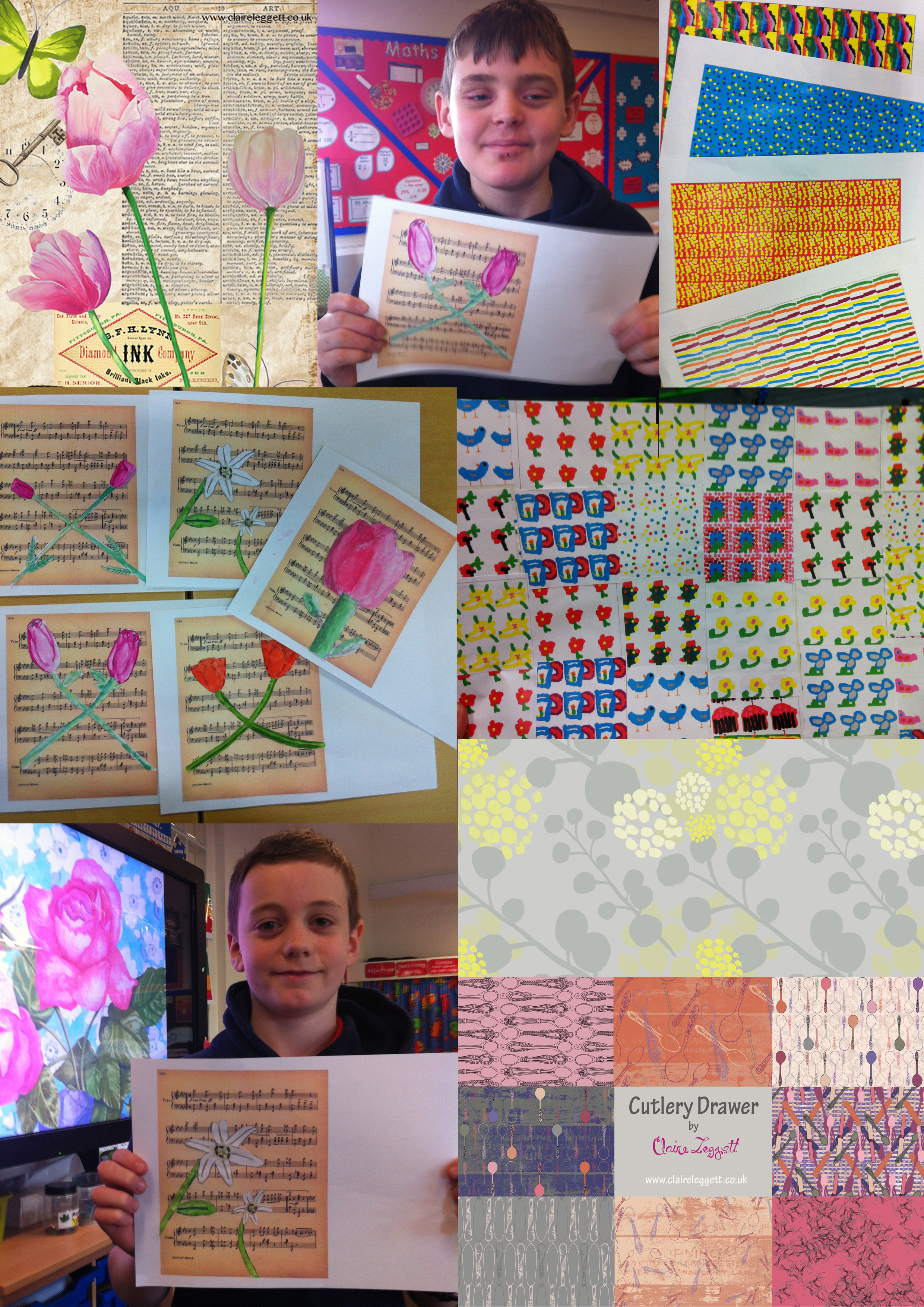 collage and pattern