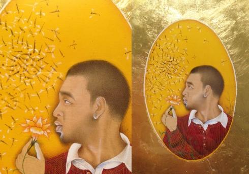 Imran Qureshi_self portrait