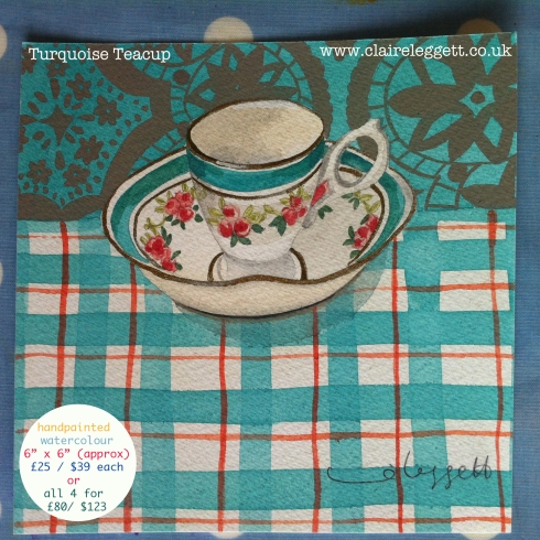 Turquoise Teacup