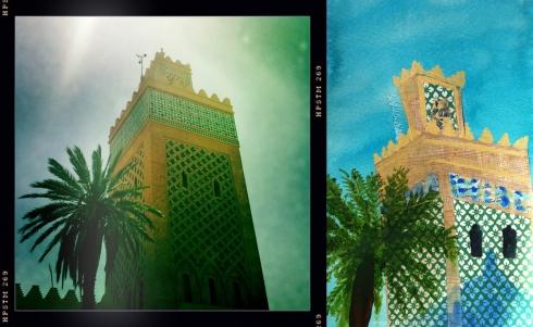 Koutoubia Minaret mosaic