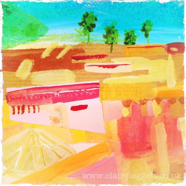 rooftops in sketchbook 3