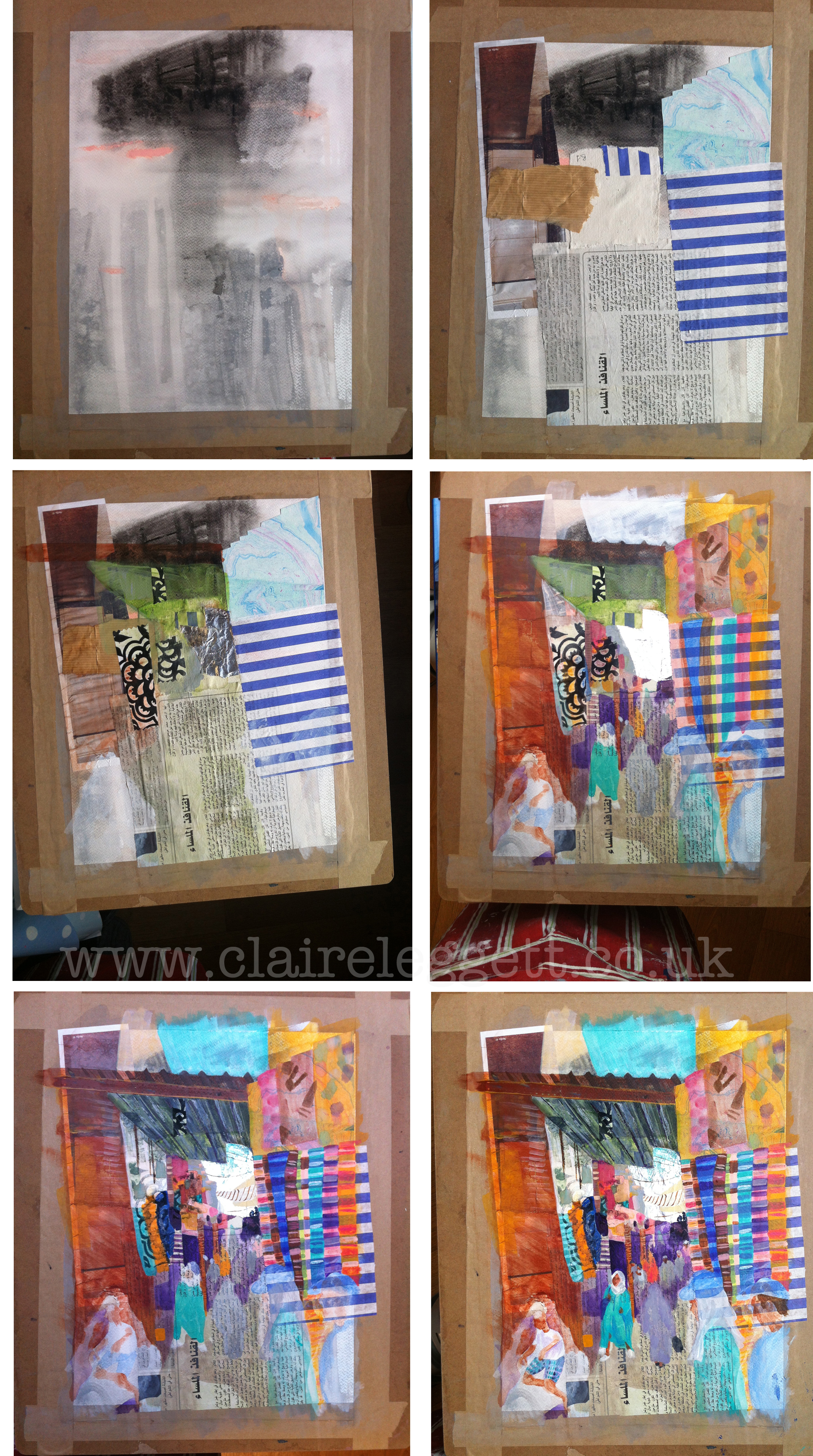 Marrakesh Market_ painting_claire_leggett_stage by stage