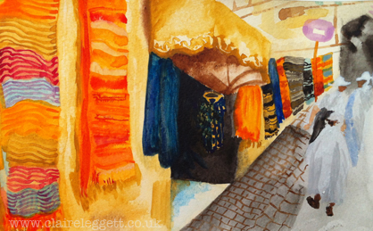 Marrakesh Souk Street_claire_leggett
