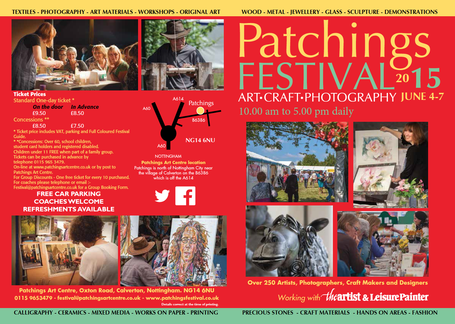 Patchings Festival 2015 leaflet