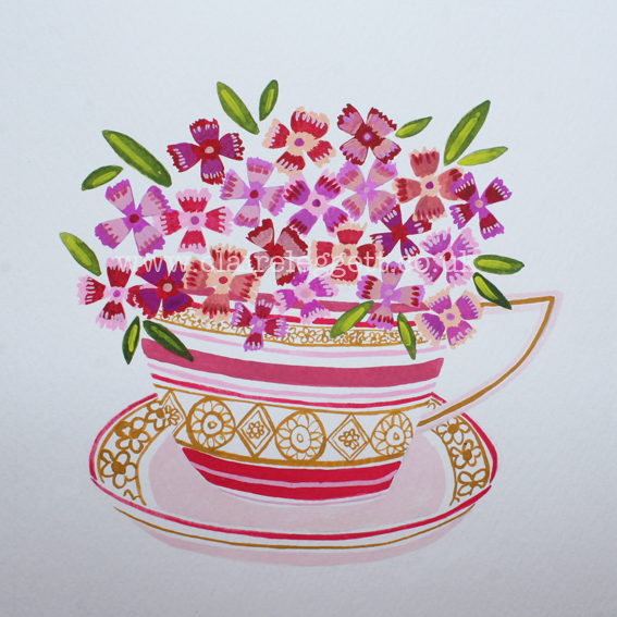 Pinks in Cup_claire_leggett