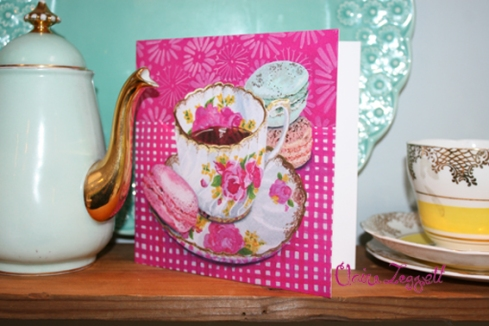 Claire Leggett greeting card rose macaron