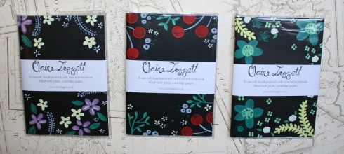 claire leggett handpainted notebooks