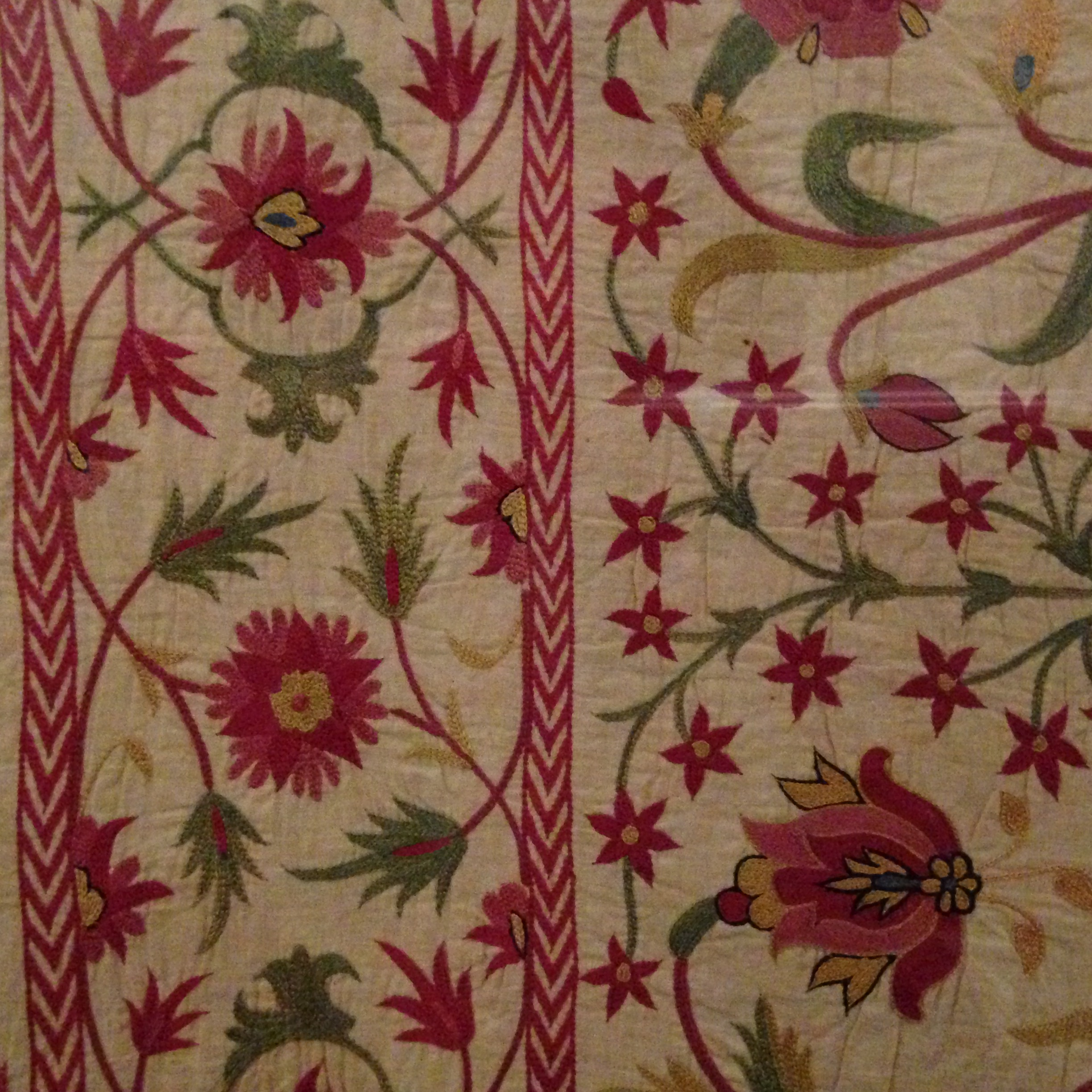 indian fabric v and a