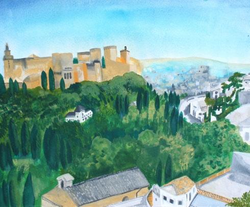 Claire_Leggett_View from the hillside,  Granada