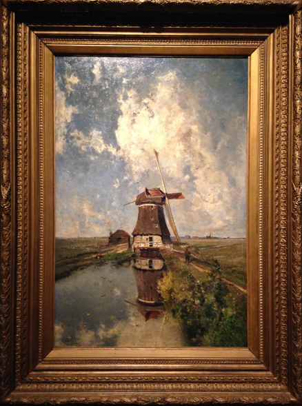 A Windmill on a Polder Waterway - Paul Joseph Constantin Gabriel