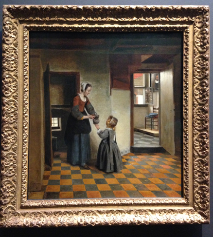 Woman with a Child in a Pantry - Pieter de Hooch